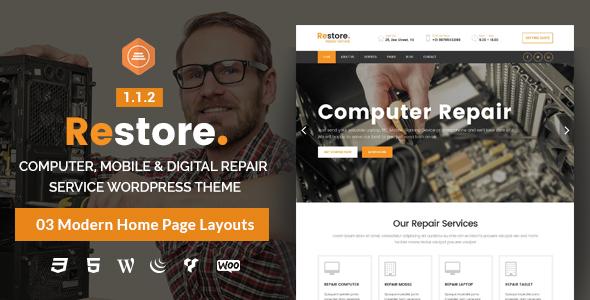Restore – Computer, Mobile & Digital Repair Service WordPress Theme