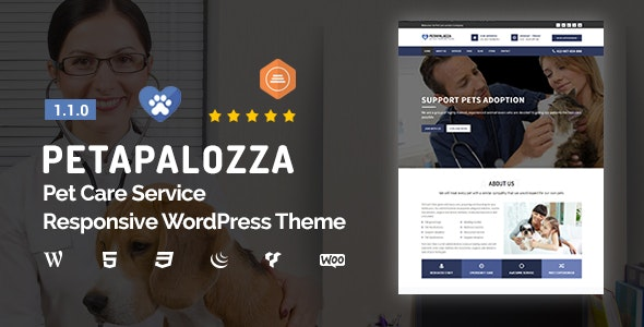 Petapalozza – Pet Care Service WordPress Theme