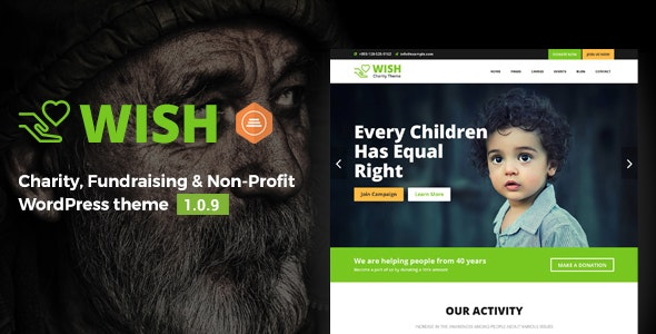 Wish – Charity WordPress Theme