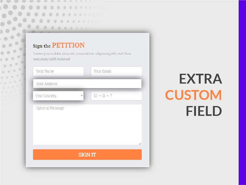 EXTRA CUSTOM FIELDS