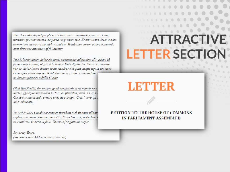DEDICATED LETTER SECTION
