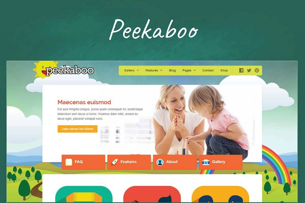 Peekaboo - Children WordPress Theme