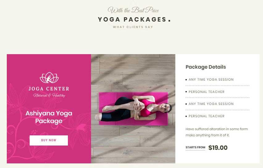 Adhi Yoga - theme Layout