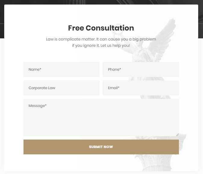 Attorna - WordPress Theme's UI