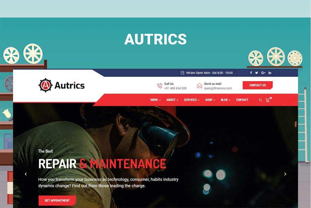 Autrics   Car Services and Auto Mechanic WordPress Theme