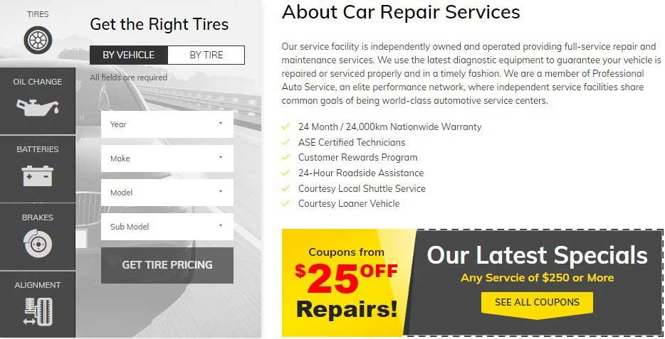 Car Repair Services shop layout