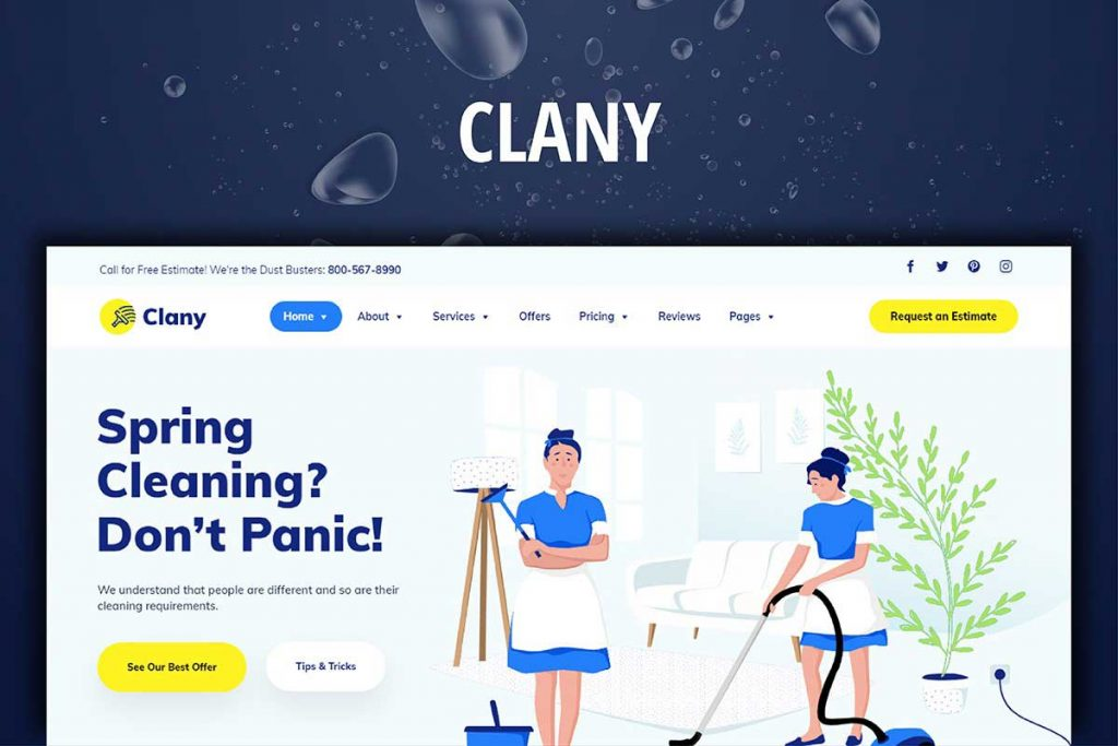 Clany - Cleaning Services Website Theme