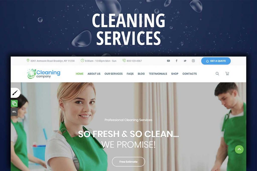 Cleaning Services Website WordPress Theme
