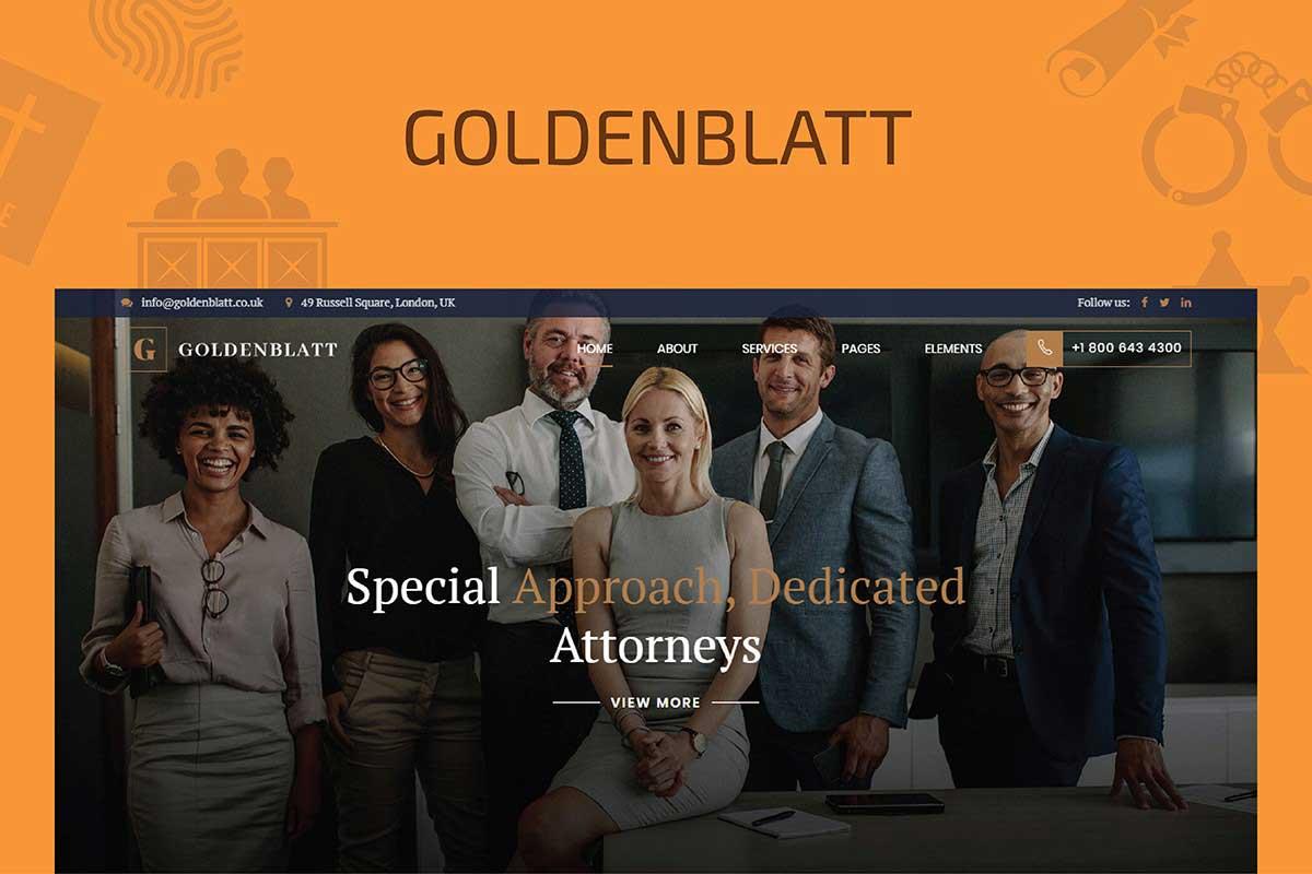 Goldenblatt - WordPress Theme for Lawyer & Attorney