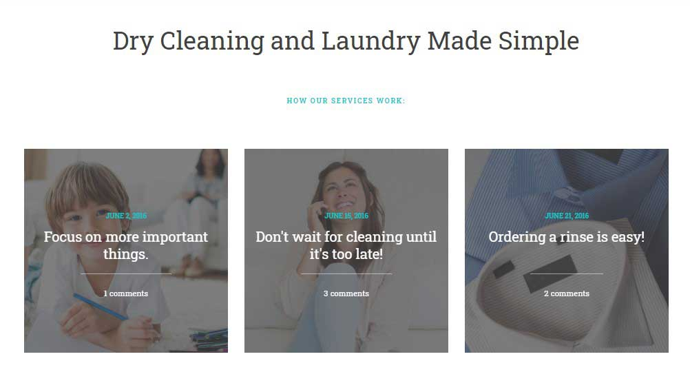 GoWash | WordPress Theme for Dry Cleaning