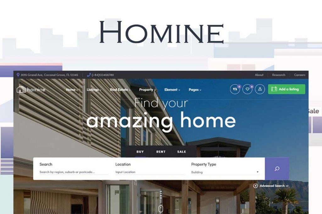 Homine – Real Estate WordPress Theme