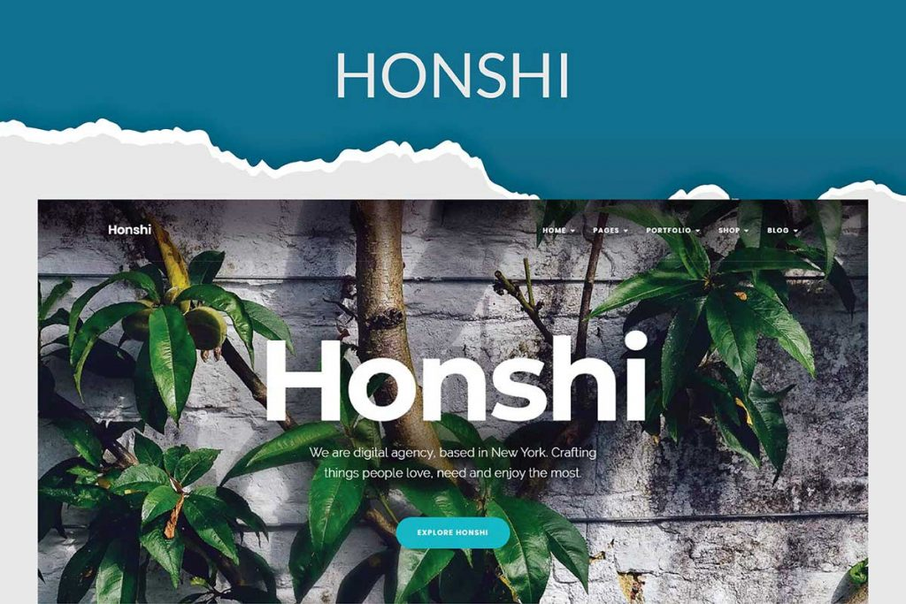 Honshi - Elementor Personal Portfolio Theme
