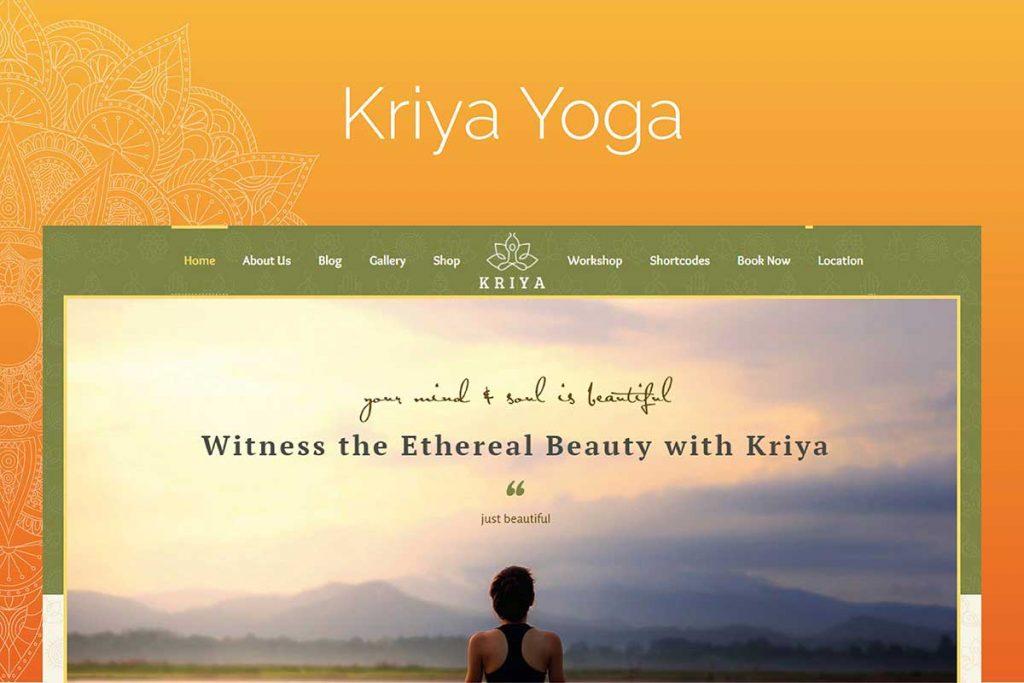 Kriya Yoga - Meditation WordPress Theme