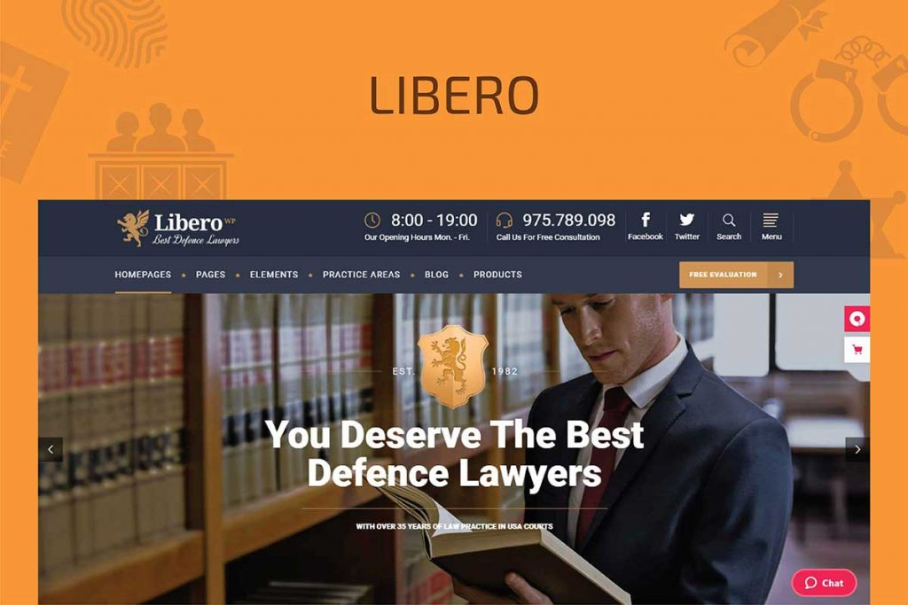 Libero - Lawyer and Law Firm Theme