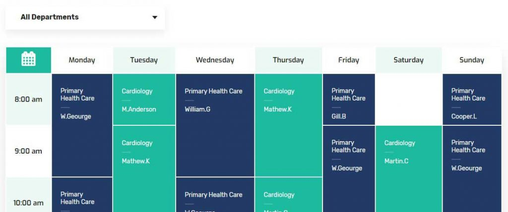 Medizco - Health & Dental Care Clinic WordPress Theme Layout