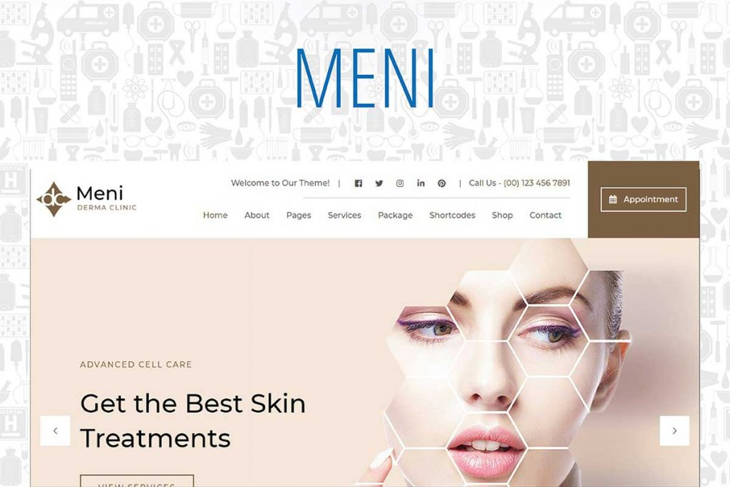 Meni - Healthcare Doctor Medical WordPress Theme