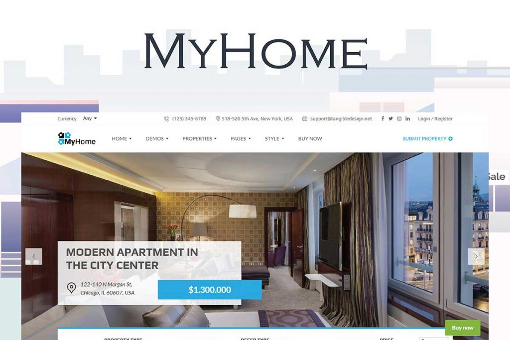 MyHome - Real Estate Agent WordPress Theme