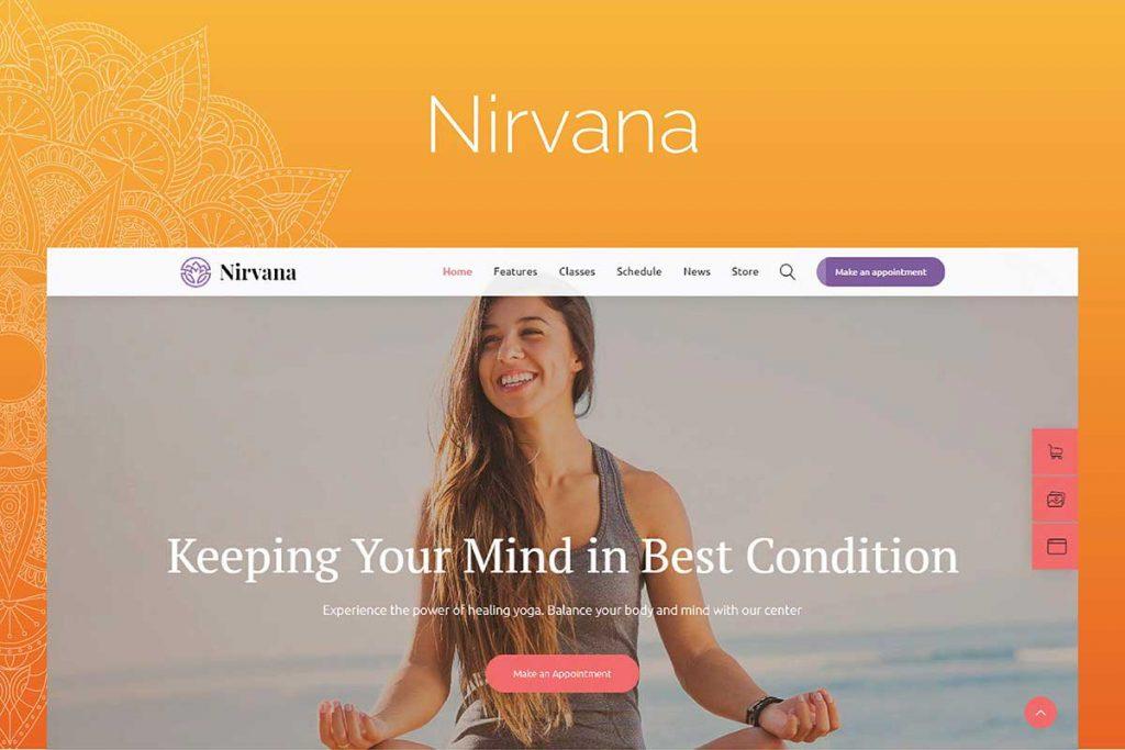 Nirvana | Yoga, Sports and Fitness WordPress Theme