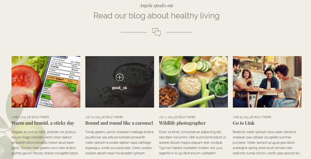 Organic Food - Nutritionist & Farm theme's UI
