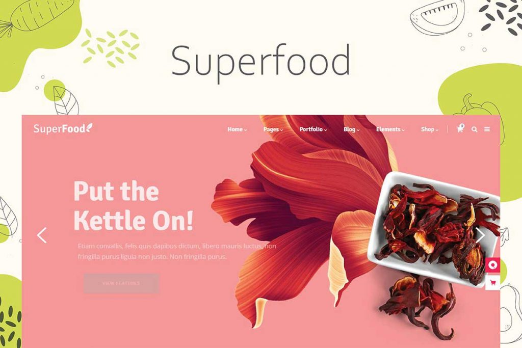Superfood - WordPress Theme for Organic Food Store