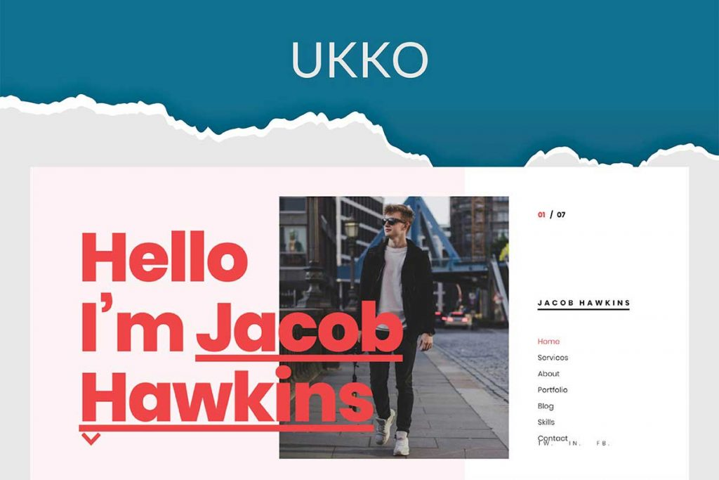 Ukko - Personal Portfolio WordPress Theme