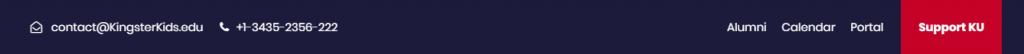 Toolbar or Header Layout of a school or kindergarten webiste 1
