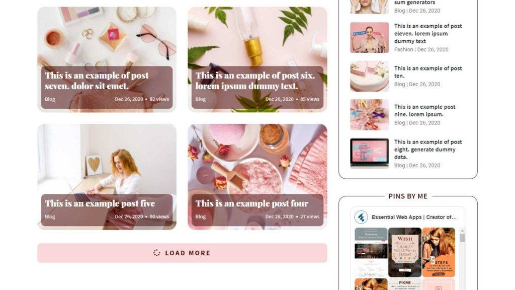 Blog Three - Ashley WP  Theme