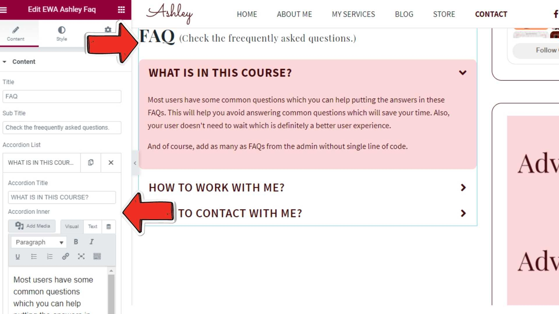 FAQ Ashley WordPress Theme