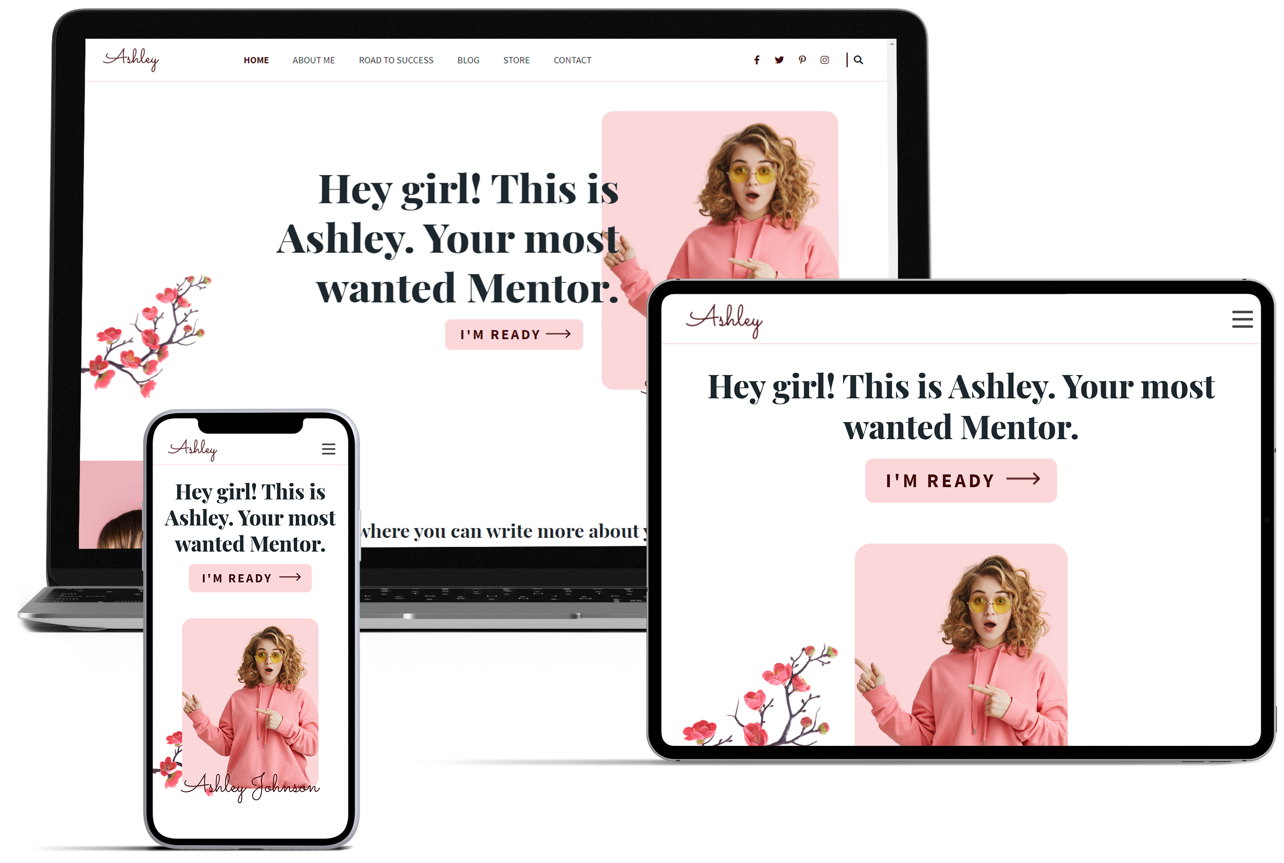 Ashley – Feminine Style WordPress Theme