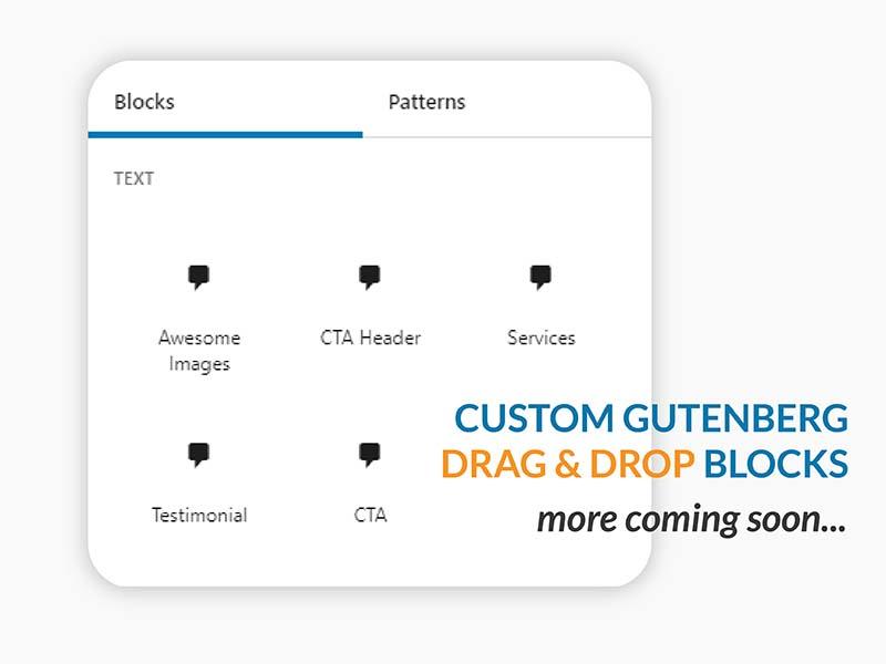 Custom Gutenberg blocks