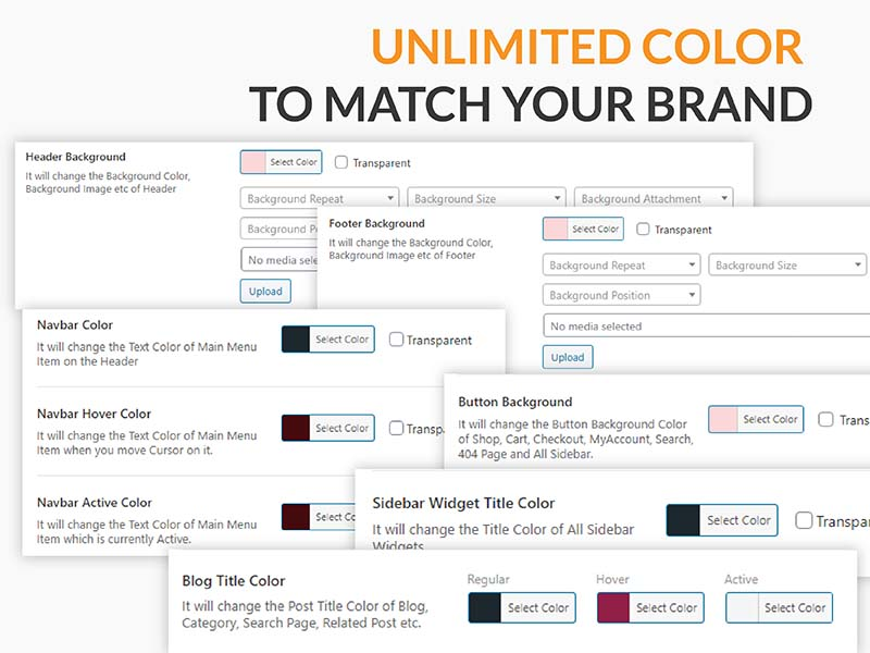 Unlimited Color to choose from