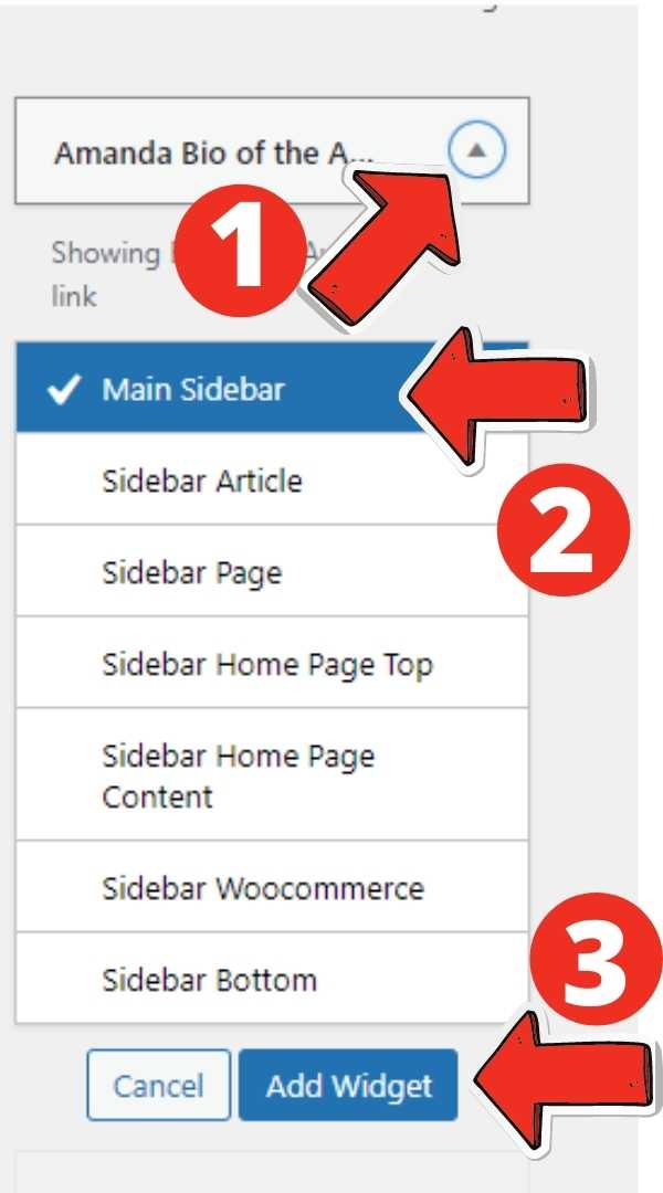 WordPress Category Widget