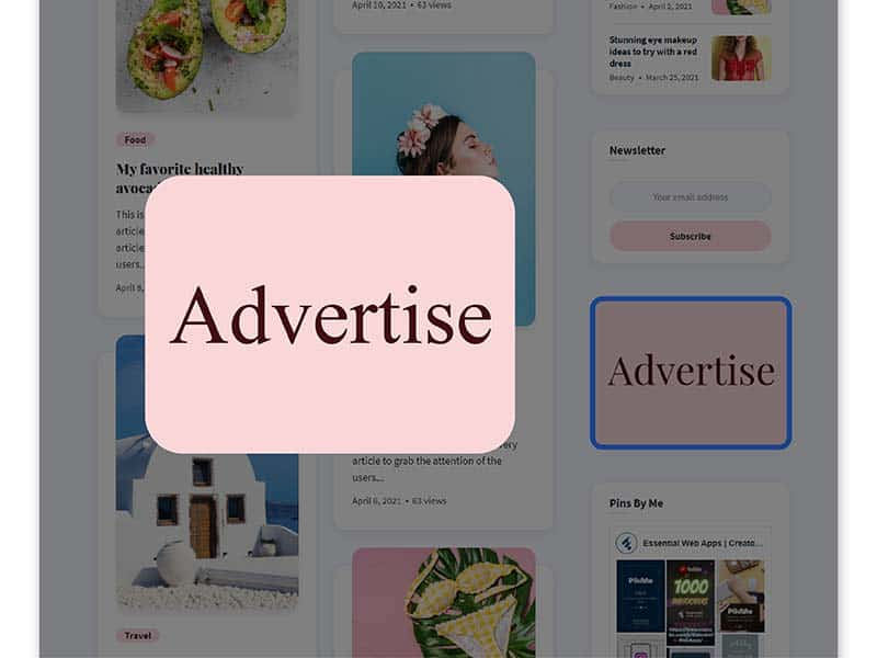 Earn money by placing Ads