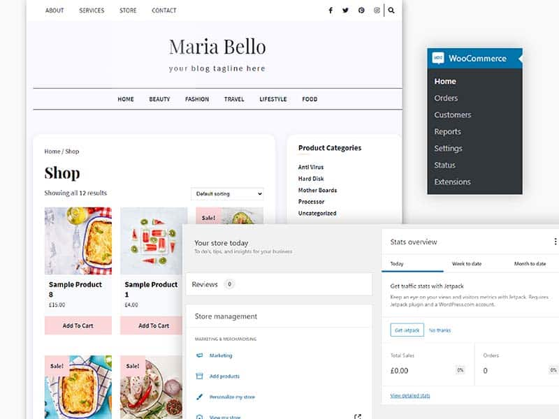 Sell goods on your website
