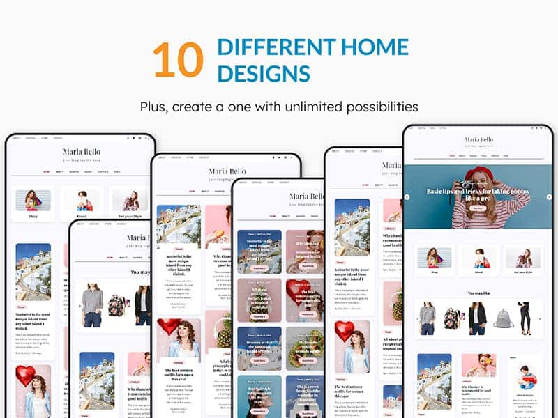 10 different home page